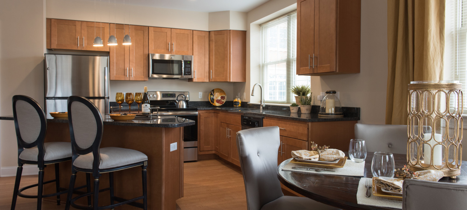 kitchen at Meridian at Eagleview apartments in Exton PA