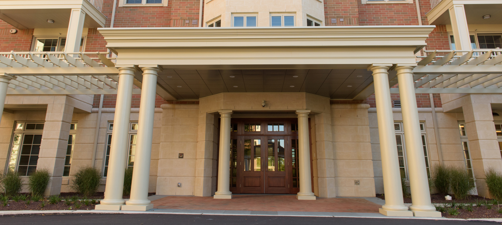 main entrance at Meridian at Eagleview apartments in Exton PA