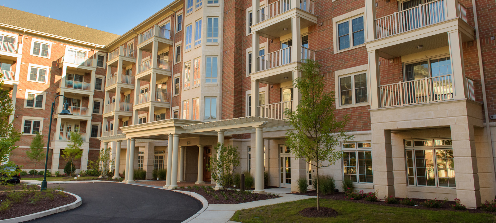 entrance at Meridian at Eagleview apartments in Exton PA