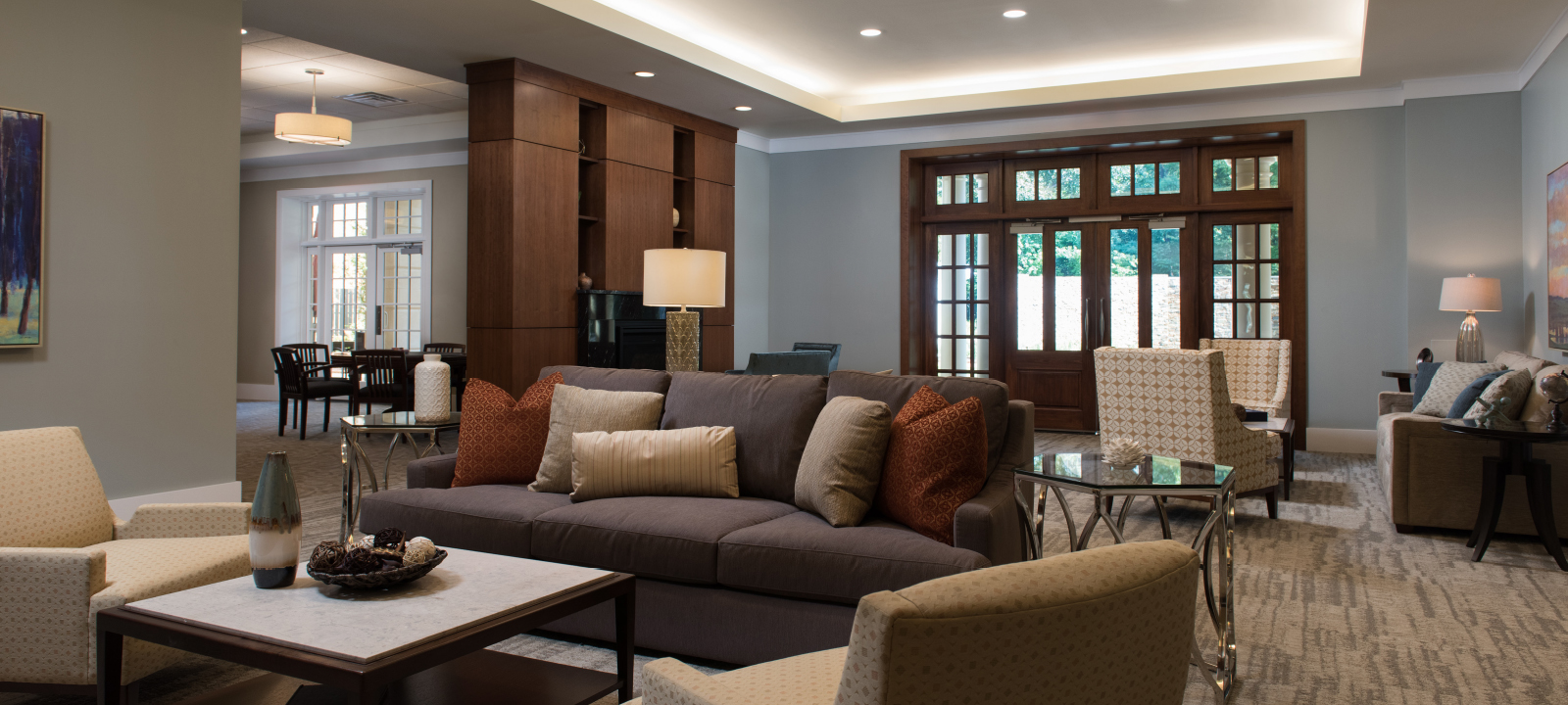lobby at Meridian at Eagleview apartments in Exton PA
