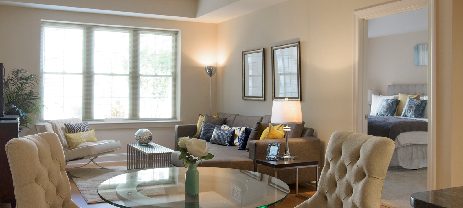 living room at Meridian at Eagleview apartments in Exton PA