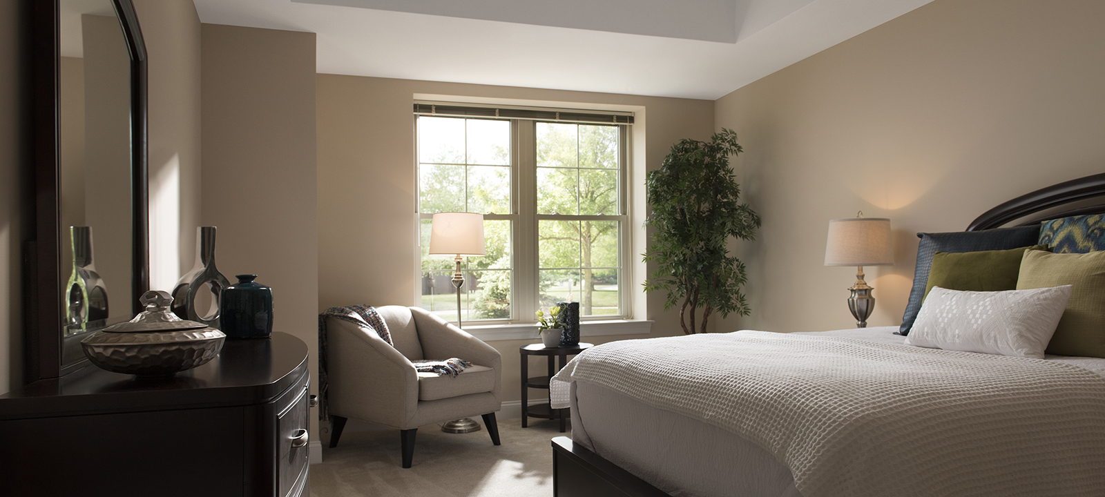 bedroom at Meridian at Eagleview apartments in Exton PA