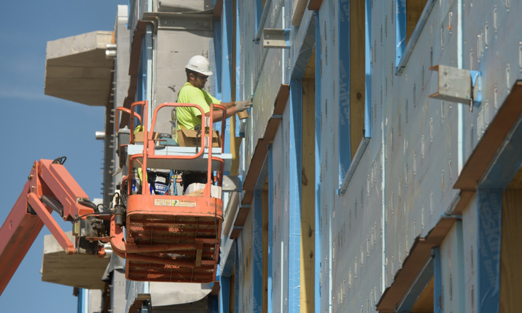 Construction work at meridian at eagleview apartments in exton, pa